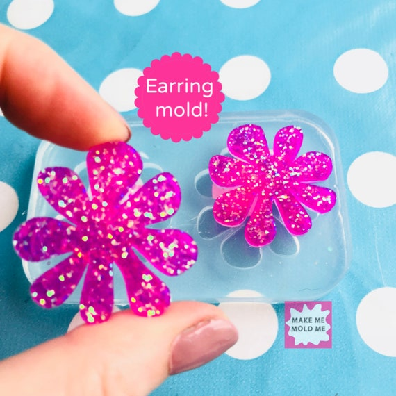 30mm Silicone Doodle Flower Earring Mold EM315