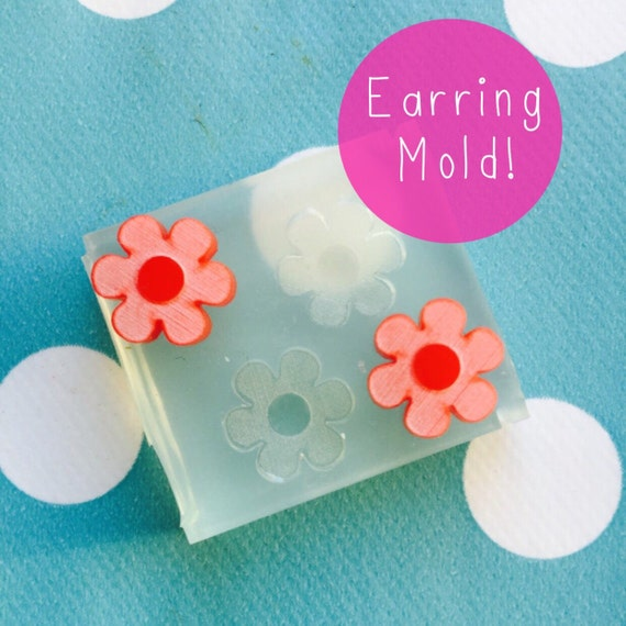 Silicone Earring Flower Stud Mold  - Earring Resin Crafter Mould EM139