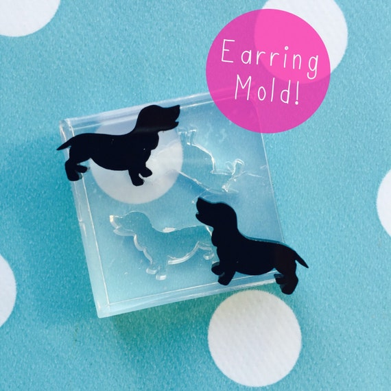 Dachshund Sausage Dog Stud Earring Mold EM114