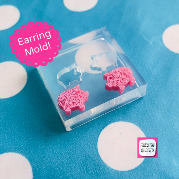 10mm Silicone Pig Stud Earring Mold  EM445