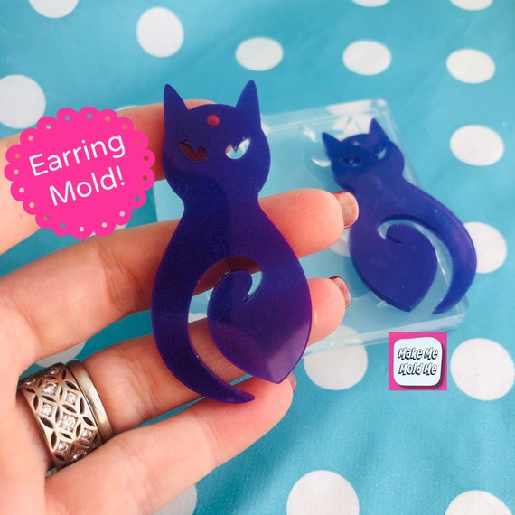 60mm Silicone Car Dangle Earring Mold  -  EM446