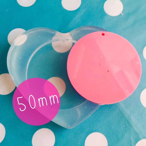 Silicone 50mm Circle Disc Mold  PM15