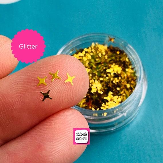 Amazing 4 Point Gold Star Shape Glitter Confetti MM94