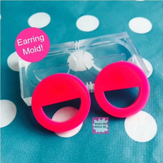 27mm Silicone Earring Cut Out Circle Disc Mold EM63
