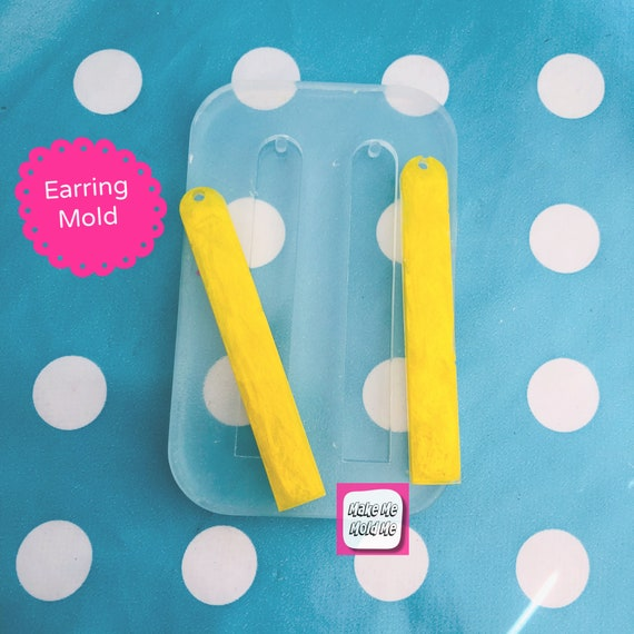 65mm Long Rectangle Silicone Dangle Earring Mold  EM471