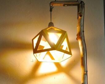 Mustard yellow Origami lamp