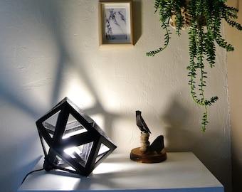 Large black Origami lamp