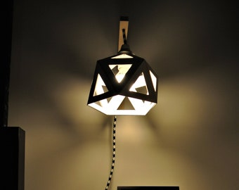 White origami Wall lamp