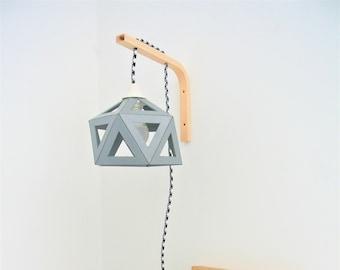 applique wall light grey origami