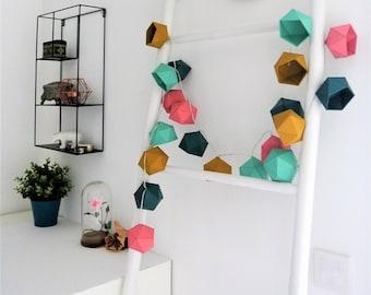 Scandinavian colors Origami string light
