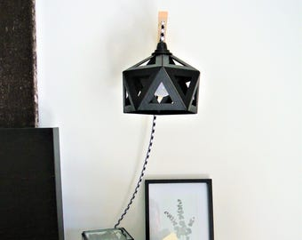 Black origami Wall lamp