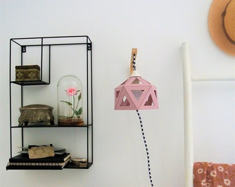 applique wall pastel pink origami