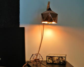 Origami copper Wall lamp