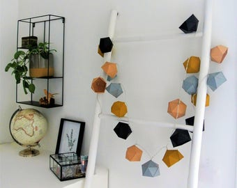 Ethnic and Bohemian color Origami string light
