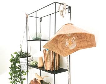 GRAMO oak wood - Leewalia - bedside lamp - booster lamp - designer lamp - reader - cardboard lamp - wooden lamp
