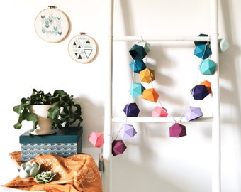 Bright garland Origami rainbow - Leewalia - LED garland - ambient light - interior decoration - multicolored garland