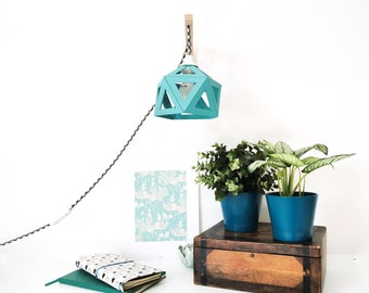 Mint blue origami wall - Leewalia - bedside lamp - wall lamp - reader - design lamp - geometric graphic lamp