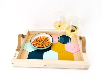 Aperitif tray with integrated coasters SCANDINAVE - Leewalia - tableware - tray - interior decoration - design object