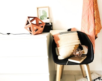 Large copper Origami lamp - Leewalia - design lamp - booster lamp - reader - cardboard lamp - graphic lamp