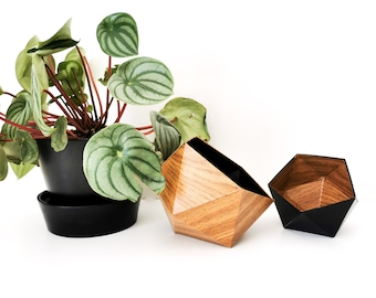 origami boxes wood oak and black