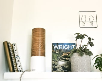 TUBO tube lamp wood and white
