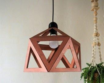 copper luster origami pendant