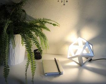 Small Origami silver chrome lamp