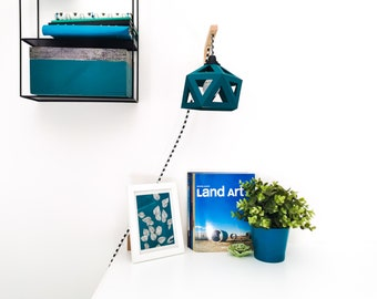 Duck blue origami wall - Leewalia - bedside lamp - wall lamp - reader - design lamp - geometric graphic lamp