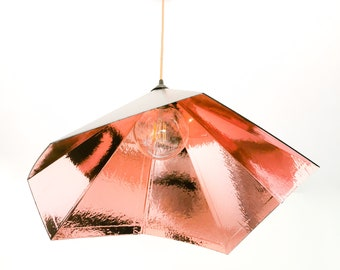 GRAMO copper and black chandelier suspension - Leewalia - ceiling - metallic lamp - design lamp - light - rose gold copper - large lamp