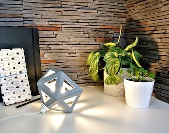 Small grey Origami lamp
