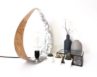 DROP lamp oak and marble - 2 sizes - Leewalia - table lamp - lighting design - interior decoration - oak - bedside lamp