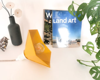 Small mustard yellow GRAMO walking lamp