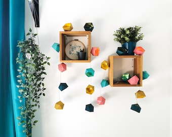Scandinavian colors Origami string light