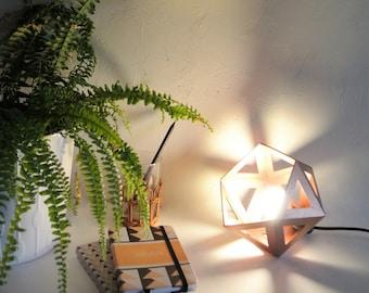 Small Origami lamp copper