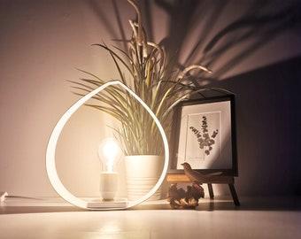 DROP oak and white lamp - 2 sizes - Leewalia - table lamp - lighting design - interior decoration - oak - bedside lamp