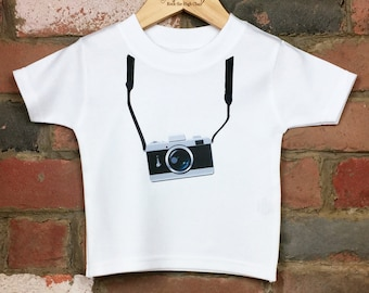 7fd326f9d Vintage Camera TShirt, Trendy Baby/Kids TShirt, Camera Shirt, Baby Clothing,  Retro Camera, Graphic TShirt, Photographer Tshirt, Camera Gift