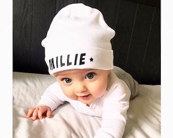 64bc95291c9 Baby Name Beanie Hat