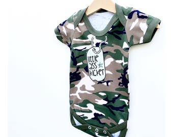 f872f72822115 Army Baby Bodysuit, Military Baby, Funny Baby Clothes Army Baby Outfit  Marine Baby Bodysuit Air Force Baby Camouflage Clothes Army Baby Gift