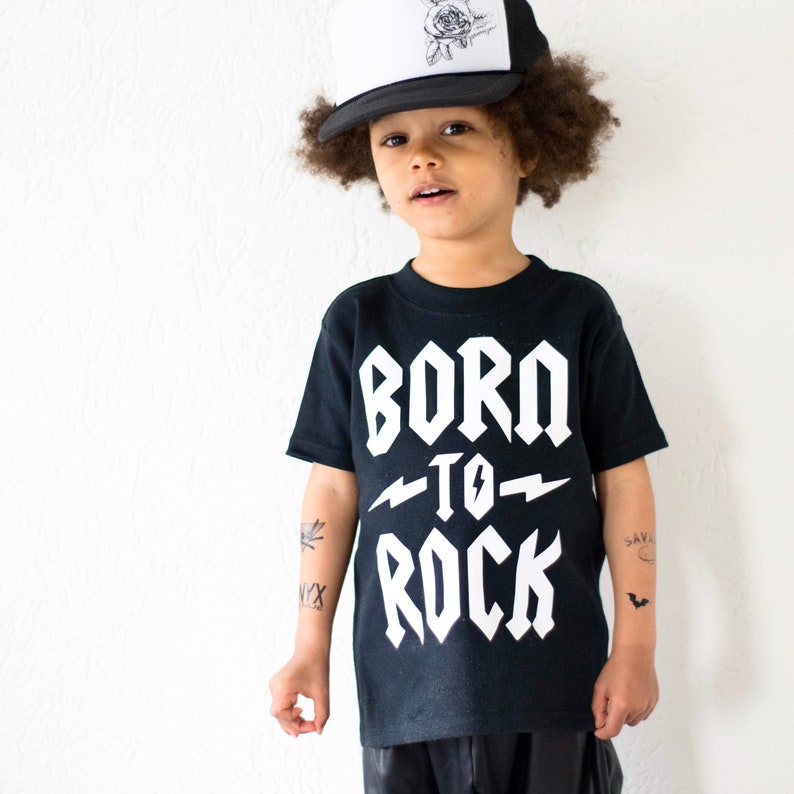 aa885329b Born to Rock Kids & Baby T-Shirt Little Rocker Rock Baby | Etsy
