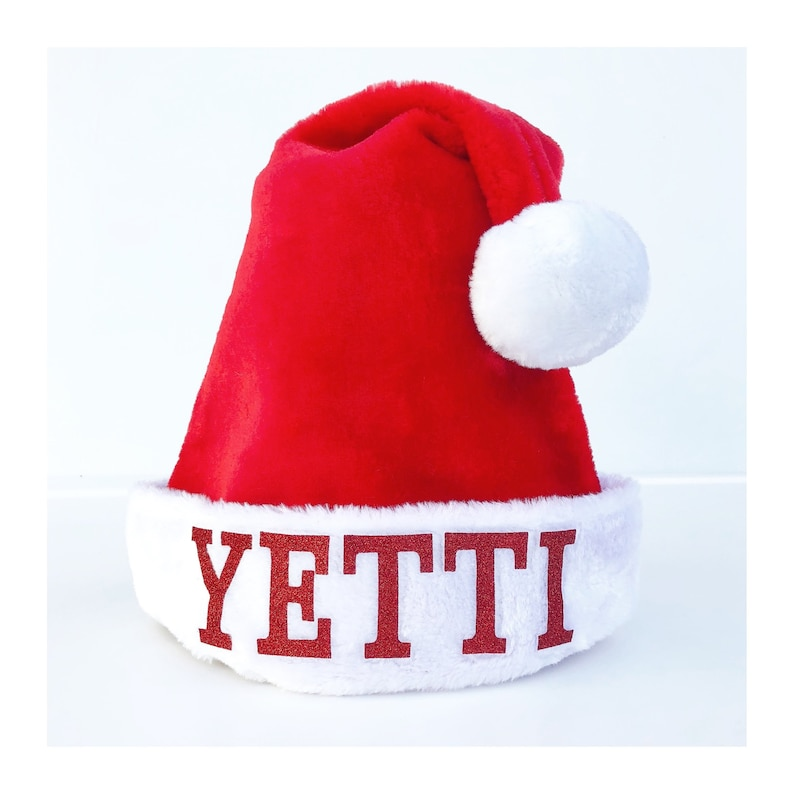 f7ec26627e944 Personalized Santa Christmas Hats Red Fluffy Personalised Hat