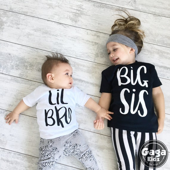 Big//Little Brother Matching Top T-shirt Kid Baby Boy Romper Bodysuit Outfits sdg