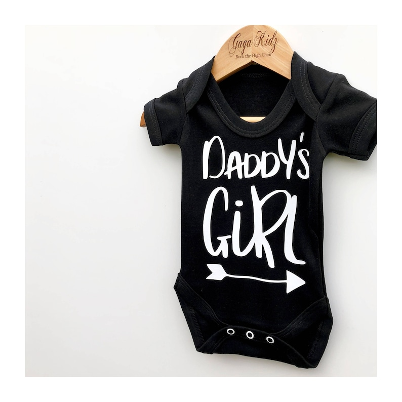 7df024778 Daddy's Girl Bodysuit Baby Girl Outfit Baby Vests | Etsy