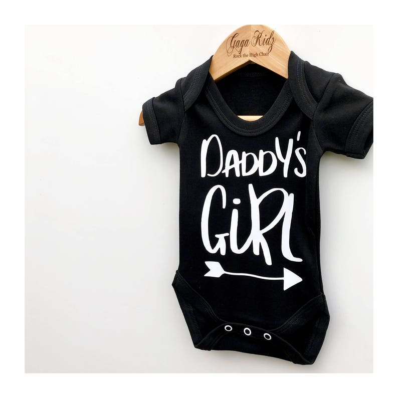 91c6d167a67a Daddy's Girl Bodysuit Baby Girl Outfit Baby Vests | Etsy