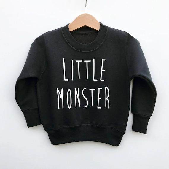cca37e49a Cute Little Monster Baby Kids Jumper Monster Birthday