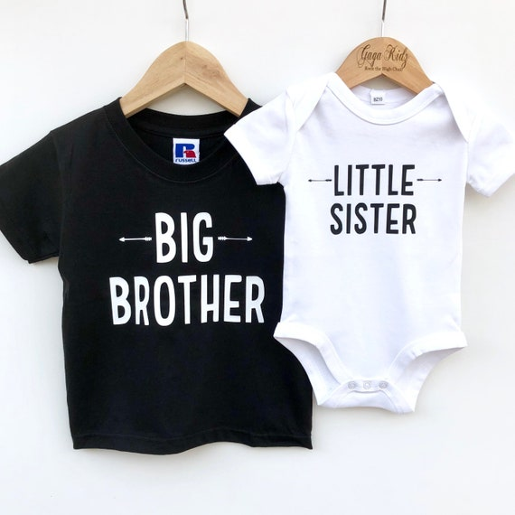 Newborn Baby Kids Little  Romper Big Sister T-shirt Tops Ches Outfits