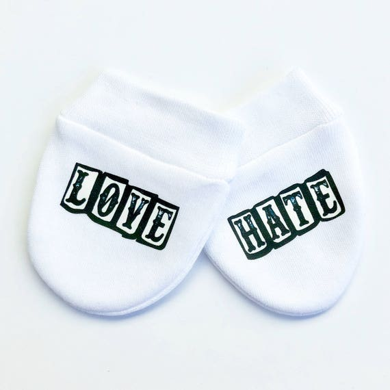 Boxing gloves funny print baby scratch mitts mittens gloves baby shower new baby