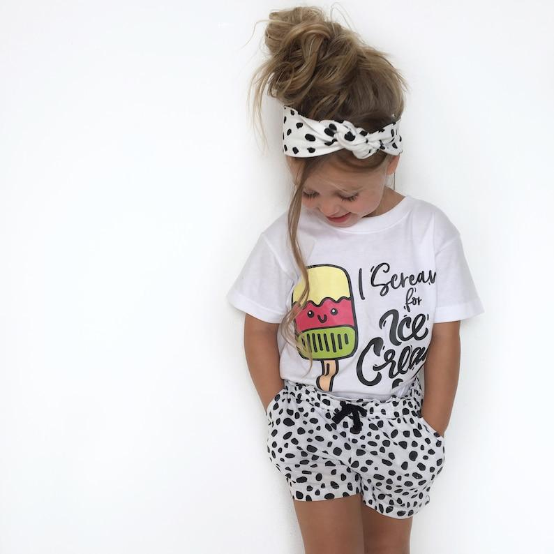 Ice Cream Kids Baby Summer Shirt Scream Ice Cream Ice Cream Etsy