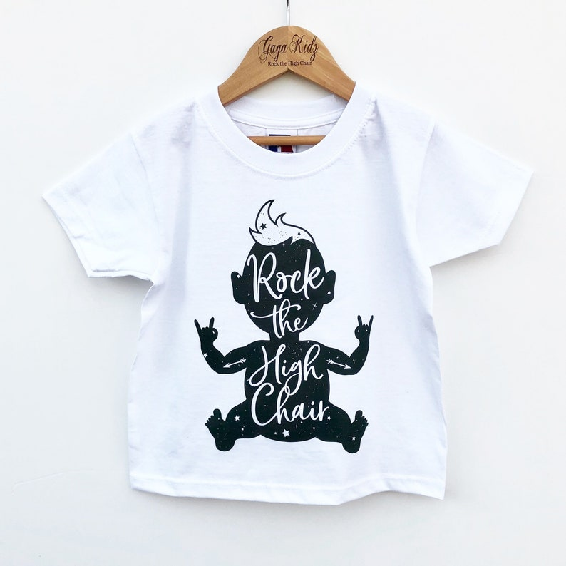 02f4f8bdb020 Rock Baby Children's T-Shirt Rock the High Chair with | Etsy
