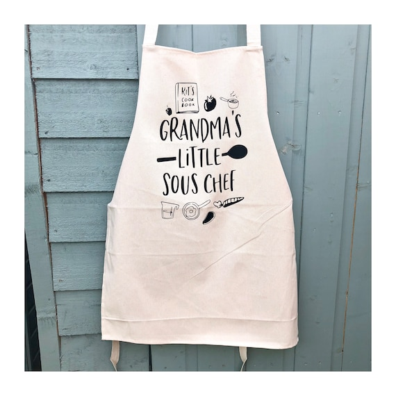 Grandma Birthday Gift Toddler Apron Kids Cooking