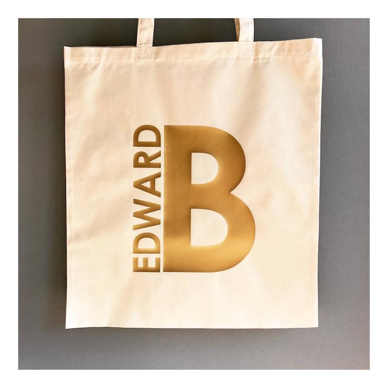 a60cdbfd75 Custom Name Tote Bag Name   Initial Bag Custom Gift Bag